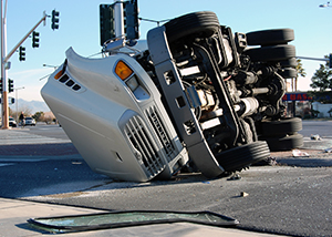Semi Truck Accident on I-15 from Overcorrection